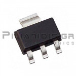 Triac 0,8A 600V Vgt:1V Igt:10mA Overvoltage protected AC switch SOT-223