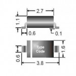 Δίοδος Ζένερ 24V 0.8W DO-219AB/Sub-SMA