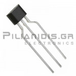 Hall effect sensor single output 3.5 - 20V/50mA 70Gauss SIP-3