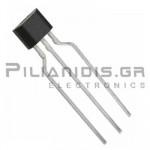 Hall effect sensor single output 3.5 - 20V/25mA 70Gauss SIP-3L