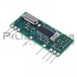 RF Module AM Receiver 433.92KHz  5Vdc 7,5mA