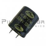 Πυκνωτής Ηλεκτρολυτικός 100μF  85C 450V 25x35mm RM10.0 Snap-In
