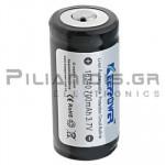 Rechargeable batter Li-Ion 16340  3.7V/700mAh  Ø16 x 34,7mm