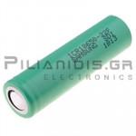Rechargeable batter Li-Ion 18650  3.7V/2200mAh  Ø18.25x65mm