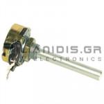 Ποτενσιόμετρο σύρματος   25KΩ 4W 6mm μεταλλικό άξονα