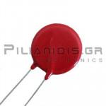 Varistor Metal-Oxide 275VAC, 369VDC, 6500A, 140J, Disc Ø20mm