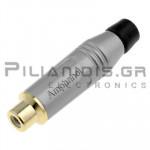 RCA Professional female plug Amphenol  RCJR-SBK