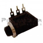 CONNECTOR JACK 6.3mm STEREO ΘΗΛΥΚΟ ΣΑΣΙ PCB ΠΛΑΣΤIKO