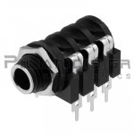 CONNECTOR JACK 6.3mm STEREO ΘΗΛΥΚΟ ΣΑΣΙ PCB ΠΛΑΣΤIKO ΜΕ ΔΙΑΚΟΠΤΗ