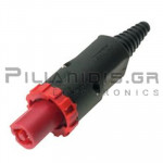 CONNECTOR SPEAKON 4pin 250V/20A ΚΟΚΚΙΝΟ