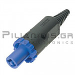 CONNECTOR SPEAKON 4pin 120V/20A ΜΠΛΕ
