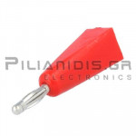 Banana 2mm | Plug | 10A | 30VAC - 60Vdc | Solder | Ni Brass | Red