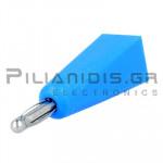 Banana 2mm | Plug | 10A | 30VAC - 60Vdc | Solder | Ni Brass | Blue