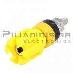 Banana Socket 4mm |  Ø13.4/(7.2)mm | 30A | 30VAC - 60Vdc | Brass | Yellow