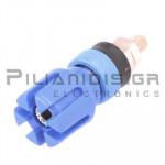 Banana Socket 4mm |  Ø13.4/(7.2)mm | 30A | 30VAC - 60Vdc | Brass | Blue