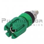 Banana Socket 4mm |  Ø13.4/(7.2)mm | 30A | 30VAC - 60Vdc | Brass | Green