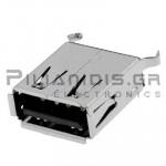 CONNECTOR  USB Α ΘΗΛΥΚΟ SMD/PCB ΙΣΙΟ