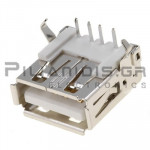 CONNECTOR  USB Α ΘΗΛΥΚΟ PCB ΓΩΝΙΑ