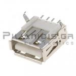 CONNECTOR  USB Α ΘΗΛΥΚΟ SMD/PCB ΓΩΝΙΑ