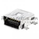 CONNECTOR USB mini B 5pin ΘΗΛΥΚΟ SMD/PCB