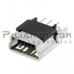 CONNECTOR USB mini B 5pin ΘΗΛΥΚΟ PCB ΙΣΙΟ
