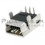 CONNECTOR USB mini B 5pin ΘΗΛΥΚΟ PCB ΓΩΝΙΑ