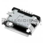 CONNECTOR USB micro B 5pin ΘΗΛΥΚΟ PCB