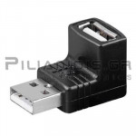 ADAPTOR USB A ΑΡΣΕΝΙΚΟ -  USB B ΘΗΛΥΚΟ ΓΩΝΙΑ 90℃