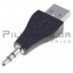 ADAPTOR USB ΑΡΣΕΝΙΚΟ -  3.5mm STEREO ΑΡΣENIKO