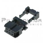 Connector IDC 2.54mm ΚΑΛΩΔΙΟΥ 1.27mm ΘΗΛYKO ΙΣΙΟ 2x3pins