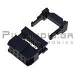 Connector IDC 2.54mm ΚΑΛΩΔΙΟΥ 1.27mm ΘΗΛYKO ΙΣΙΟ 2x4pins