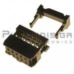 Connector IDC 2.54mm ΚΑΛΩΔΙΟΥ 1.27mm ΘΗΛYKO ΙΣΙΟ 2x5pins