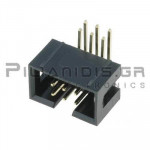 Connector IDC 2.54mm ΒΑΣΕΩΣ ΤΗΤ ΑΡΣΕΝΙΚΟ ΓΩΝΙΑ 90℃ 2x3pins