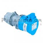 Βιομηχανίκου Τύπου Φις AC 230V 3x16A Θηλυκό Καλωδίου IP44
