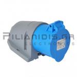 Βιομηχανίκου Τύπου Φις AC 230V 3x16A Θηλυκό Επίτοιχο Εξωτερικό IP44