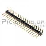 Pin header THT 2.54mm ΑΡΣΕΝΙΚΟ ΓΩΝΙΑ 1x20pins