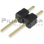 Pin header THT 2.54mm ΑΡΣΕΝΙΚΟ ΙΣΙΟ 1x2pins