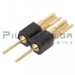 Pin header THT 2.54mm ΑΡΣΕΝΙΚΟ ΙΣΙΟ 1x2pins Soldering