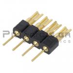 Pin header THT 2.54mm ΑΡΣΕΝΙΚΟ ΙΣΙΟ 1x4pins Soldering