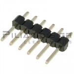 Pin header THT 2.54mm ΑΡΣΕΝΙΚΟ ΙΣΙΟ 1x6pins