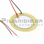 Piezoelectric without built-in generator 27mm(20mm)  2.0KHz 30V with Cable