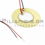 Piezoelectric without built-in generator 27mm(20mm)  3.4KHz 30V with Cable