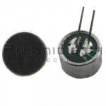 Electret Condenser Microphones; 20-16000Hz; -46±2dB; Ø9,7x6,7mm PC pins