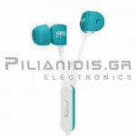 Wired Headphones Stereo 20Hz - 20KHz  115dB/38Ω 1.15m + MIC turquoise