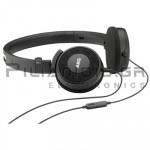 Ακουστικά Stereo 13Hz - 27KHz 115dB/32Ω 1.2m + MIC Μαύρο