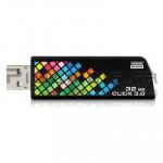 USB STICK 3.0 CLICK 32GB ΜΑΥΡΟ