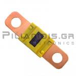 Automotive Fuse 58V  60A  12x41mm Yellow