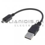 ΚΑΛΩΔΙΟ USB A ΑΡΣΕΝΙΚΟ - USB B micro ΑΡΣΕΝΙΚΟ 0.1m