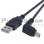 ΚΑΛΩΔΙΟ USB Α ΑΡΣΕΝΙΚΟ - USB B mini ΑΡΣΕΝΙΚΟ ΓΩΝΙΑ 1.8m