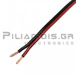 Loudspeaker Cable, black-red 2x2,50mm